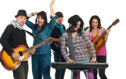 Bande des musiciens Photo stock