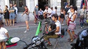 Bande des musiciens en San Telmo banque de vidéos