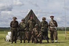 Bande des Weltkriegs der Waffenbrüder zweite Stockfoto