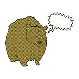 bande dessinée énorme d'ours avec la bulle de la parole illustration libre de droits