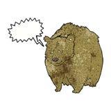 bande dessinée énorme d'ours avec la bulle de la parole illustration de vecteur