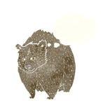 bande dessinée énorme d'ours avec la bulle de pensée illustration libre de droits