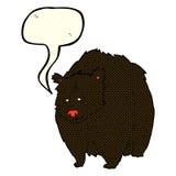 bande dessinée énorme d'ours noir avec la bulle de la parole illustration stock