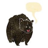bande dessinée énorme d'ours noir avec la bulle de la parole illustration de vecteur