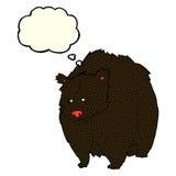 bande dessinée énorme d'ours noir avec la bulle de pensée illustration stock