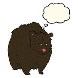 bande dessinée énorme d'ours noir avec la bulle de pensée illustration de vecteur