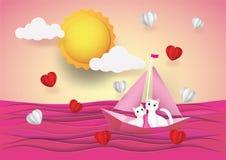 Bande dessinée, amour et Saint-Valentin mignons photographie stock