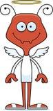 Bande dessinée Angel Ant de sourire Image stock