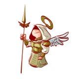 Bande dessinée Arkhangel tenant une lance Photo stock