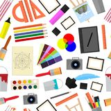 Bande dessinée Art Color Icons Set Vecteur Images stock