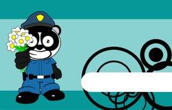 Bande dessinée background11 d'enfant d'ours panda de police illustration libre de droits