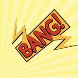 Bande dessinée bang-12 Image libre de droits
