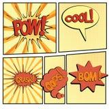 Bande dessinée bang2-4 Photo stock