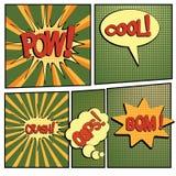 Bande dessinée bang-4 Images stock