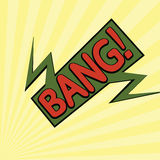 Bande dessinée bang2-12 Image libre de droits