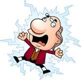 Bande dessinée Ben Franklin Electrocuted illustration libre de droits