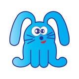 Bande dessinée bleue de lapin Photos libres de droits
