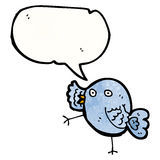 bande dessinée bleue drôle d'oiseau Photos stock