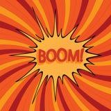 Bande dessinée boom-2 Photo libre de droits