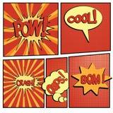 Bande dessinée boom-4 Photo libre de droits