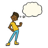 bande dessinée célébrant l'homme avec la bulle de pensée Photo libre de droits