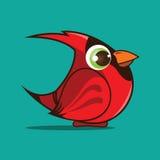 Bande dessinée cardinale d'oiseau Images stock