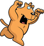 Bande dessinée Cat Attacking Photos libres de droits