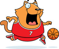 Bande dessinée Cat Basketball Illustration Stock