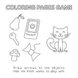 Bande dessinée Cat Coloring Book Photo libre de droits