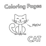 Bande dessinée Cat Coloring Book Photographie stock