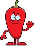 Bande dessinée Chili Pepper Waving Photos libres de droits