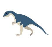 Bande dessinée colorée avec l'allosaurus de dinosaure Photos stock