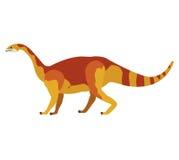 Bande dessinée colorée avec le mamenchisaurus de dinosaure illustration libre de droits