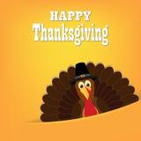 Bande dessinée colorée d'oiseau de dinde pour la célébration heureuse de thanksgiving Photographie stock libre de droits