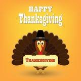 Bande dessinée colorée d'oiseau de dinde pour la célébration heureuse de thanksgiving Photo libre de droits