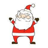 bande dessinée comique gaie de Santa Photos stock