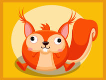 Bande dessinée d'écureuil Caractères drôles de dessin animé et d'animal de vecteur Image libre de droits