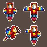 Bande dessinée d'abrégé sur oiseau de perroquet Photo libre de droits