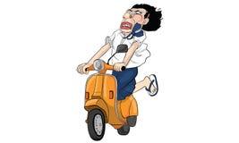 Bande dessinée d'acte de femme, ligne vecteur d'autocollant illustration libre de droits
