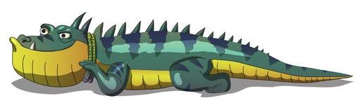 Bande dessinée d'amour d'iguane pour le clipart (images graphiques) du dossier ENV AI 2d de vecteur de cadeau d'enfants illustration libre de droits