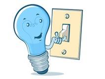Bande dessinée d'ampoule Photographie stock libre de droits