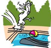 Bande dessinée d'amusement de piscine illustration libre de droits