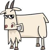 Bande dessinée d'animal de ferme de chèvre illustration libre de droits