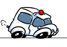 Bande dessinée d'appel d'urgence de voiture d'ambulance illustration libre de droits