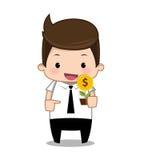 Bande dessinée d'argent d'homme d'affaires Image libre de droits