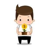 Bande dessinée d'argent d'homme d'affaires Photographie stock libre de droits