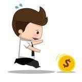 Bande dessinée d'argent d'homme d'affaires illustration de vecteur