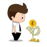 Bande dessinée d'argent d'homme d'affaires Photos stock