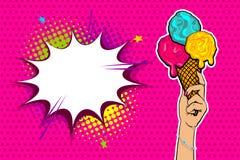 Bande dessinée d'art de bruit de nourriture de bonbon à été Image stock