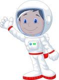 Bande dessinée d'astronaute illustration libre de droits